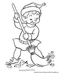 santa christmas coloring pages elf santa workshop