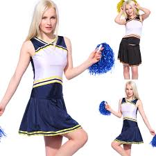 cheerleader halloween costumes ladies girls blank printed cheerleader uniform cheerleading