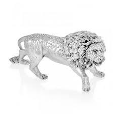 silver lion statue silver lion sculpture dolphin mart limited
