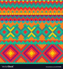 ethnic mexican ornament with geometric figures vector image