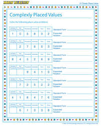 complexly placed values u2013 free printable place value worksheet for