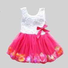 colorful dress online shop 2017 summer new cotton baby infant fairy tale petals