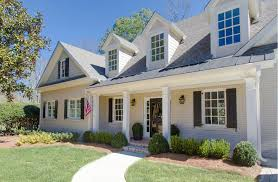 Houses With Porches Exterior One Beautiful House With Different Styles Of Brick Front