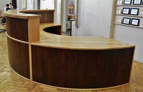 Rounded Reception Desk by Semicircular Reception Desk