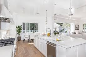 Engineered Hardwood In Kitchen Kitchen With One Wall U0026 Hardwood Floors In Los Angeles Ca