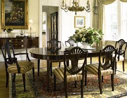 furniture oval dining table by saloom furniture with indoor