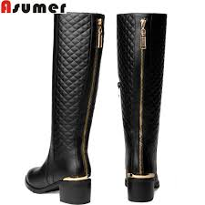 womens boots large sizes large size high quality genuine leather boots s winter knee