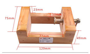 Wooden Bench Vise Plans by Diy Tool Work Pine Wood Material Bench Vise Jaw Vice Clamp 75mm