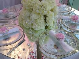 glass beaded charger plates wedding lounge