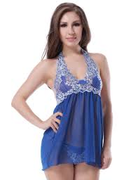 shop online nightwear u0026 intimates sheer blue babydoll dress with