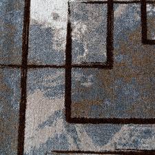 Teppich Schlafzimmer Beige Designer Teppich Modern Kurzflor Abstrakt Gemälde Optik Braun