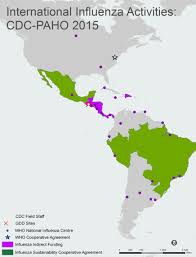 The Americas Map Who Region Of The Americas Amr 2014 2015 International
