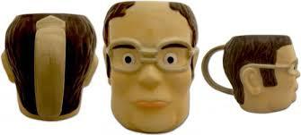 Office Coffee Mugs The Office Dwight Head Shaped Mug