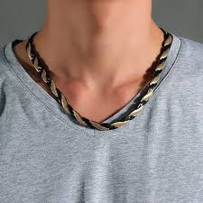 stainless steel choker necklace images Mens choker necklaces stainless steel 4 element magnetic therapy jpg