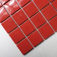 aliexpress com buy red square ceramic mosaic tile kitchen