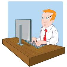 dessin de bureau employé de bureau de dessin animé à bureau illustration de