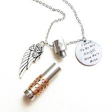 ashes necklace memorial jewelry cremation ashes necklace i used to be his