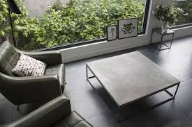 How To Do Minimalist Interior Design Industrial Interior Design Idea Concrete And Steel Tables