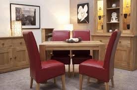 red leather dining table white lamp with gold accent pine wood