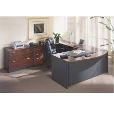 U Shaped Desks Bush Src001hcsu Series C Corsa L Shaped Desk Hansen Cherry