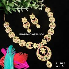 necklace sets design images Chandbali design ruby emerald designer necklace set set mc04 griiham jpg