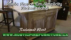 Pine Kitchen Island Rustic Pine Simplicity Kitchen Island From Reclaimed Pine