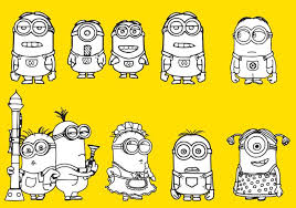 minions coloring download free vector art stock graphics u0026 images