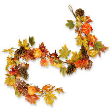 fall garland national tree company 72 in maple garland with pumpkins rahv