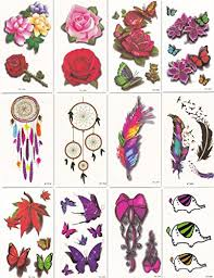 bbei temporary tattoos 12 sheets bow butterfly dreamcatcher