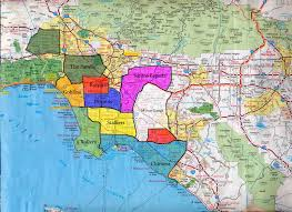 Map Of Los Angeles Area by Miami Hoods Map Of Dade County Florida New Orleans Murders Down