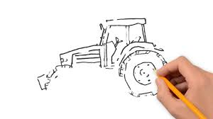 tractor nature pencil to draw step by step youtube
