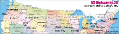map us hwy us highway no 20 newport or to boston ma