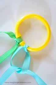 ribbon streamers how to make ribbon rings laughing kids learn
