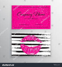 makeup artist business card business cards stock vector 627036860
