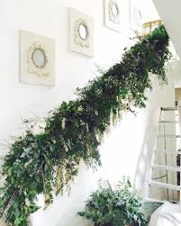 Banister Christmas Garland The 25 Best Christmas Stair Garland Ideas On Pinterest