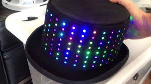 beanie with led lights led top hat youtube