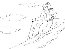 Coloriage Ski 1  Coloriage Ski  Coloriages Nature
