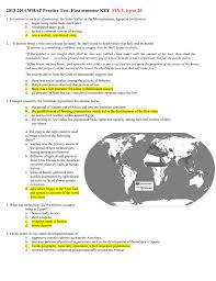 2013 2014 whap practice test first semester key fix 5 typos 20