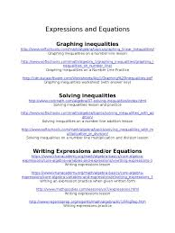 Solve And Graph The Inequalities Worksheet Expressions And Equations Websites Inequality Mathematics