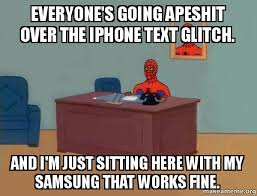 How To Make A Meme On Iphone - everyone s going apeshit over the iphone text glitch and i m just