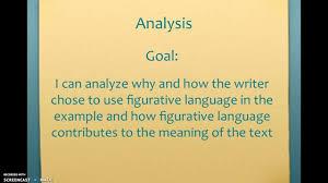 figurative analyzing figurative language youtube