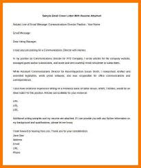 Sample Email With Resume Attached by 8 Sample Email Cover Letter Park Attendant