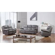 faux leather living room sets you u0027ll love wayfair