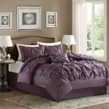 Home Essence Comforter Set Madison Park Laurel Purple Seven Piece Full Comforter Set Full