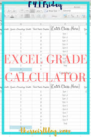 fyi friday excel grade calculator calculator college and high