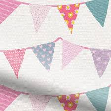 Roman Blinds Pattern Bunting Dainty Pink Roman Blind