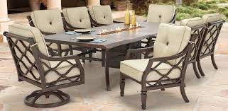Firepit Dining Table by Villa Bianca Collection Castelle Luxury Outdoor Furniture