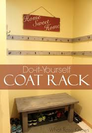diy coat rack for open space or closets what rose knows