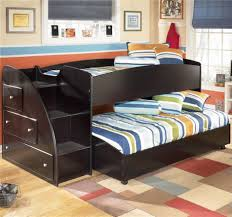 Black Wooden Bunk Beds Breathtaking Image Of Bedroom Decoration Using Ikea Bunk Bed