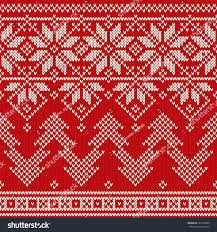 winter seamless knitted pattern stock vector
